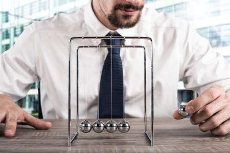 ビジネスのニュートンのゆりかご 写真素材