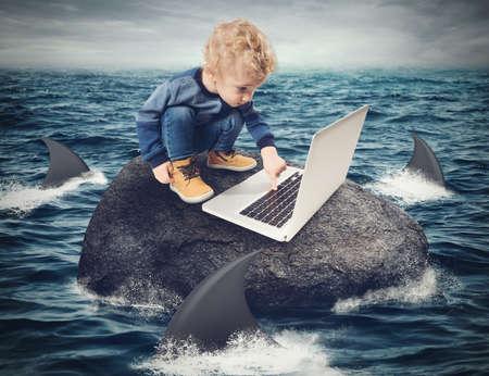Moeilijkheidsgraad Internetconcept Stockfoto