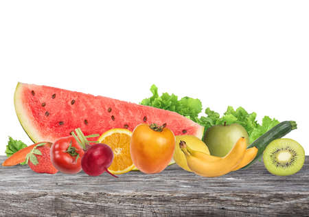 composition: Colourful banner of fruits. Healthy food concept