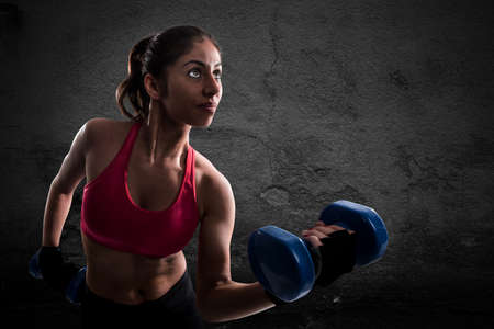 forceful: Athletic muscular woman