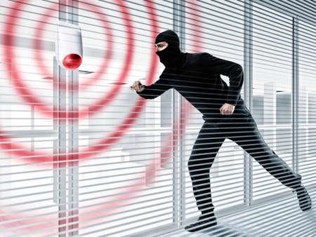 泥棒を盗むためのアラーム 写真素材
