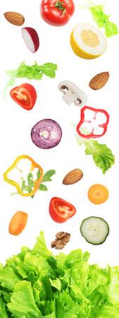 サラダの背景。コンセプトは、健康のための健康食品 写真素材 - 78025900