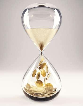 時間はお金の概念 3 D レンダリング