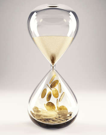 Time is money concept 3D Rendering
