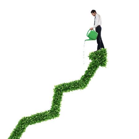 3d: Growing the economy company Stock Photo