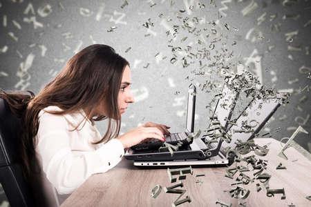 Internet- en sociale netwerkverslaving Stockfoto