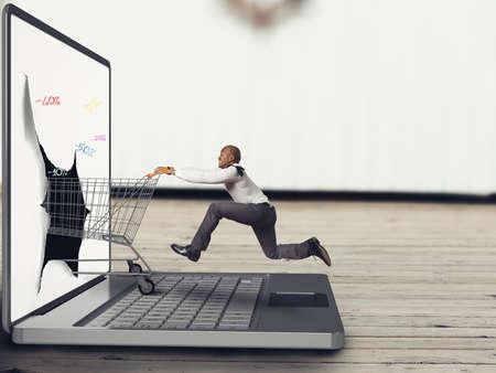 gente comunicandose: Compras en línea
