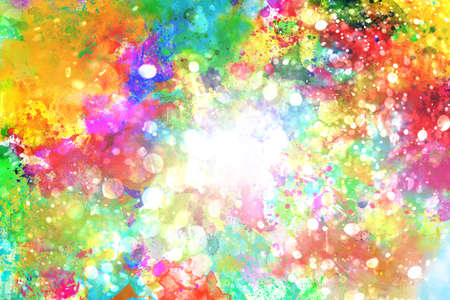 painting: Background of explosion of shiny colored liquid colors