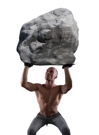 flexion: Hard workout Stock Photo