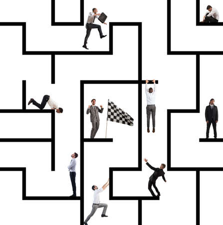 business game: Business game of maze