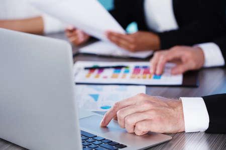 Team of business person works together. Concept of teamwork Standard-Bild