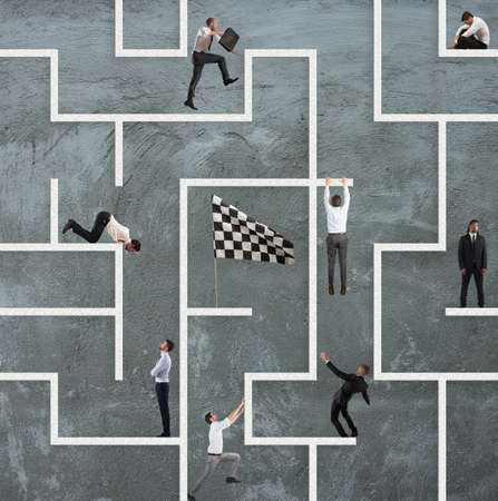 Business game of maze photo
