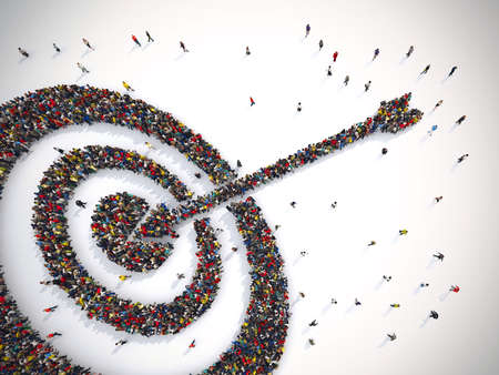 Target mensen. 3D-weergave