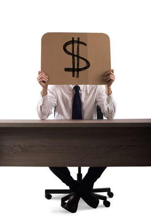 cash: Business money cardboard Stock Photo