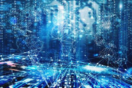 전세계 인터넷 네트워크 개념