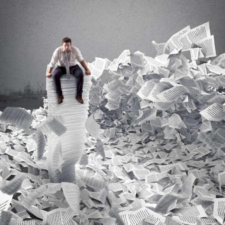 紙シートは、どこで実業家。官僚制の概念によって埋葬されました。