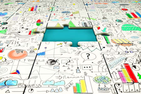 Missing piece of a puzzle. Business problem solving concept