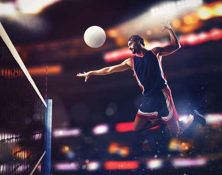 プレーヤーは、ボールを打つ 写真素材