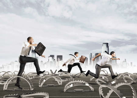 Men run in a thousand difficulties Stock Photo - 103446583