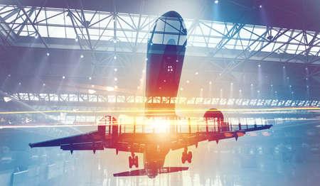공항의 이중 노출로 현대 항공기에서 벗어남