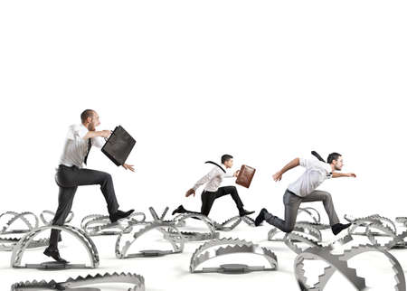 Men run in a thousand difficulties
