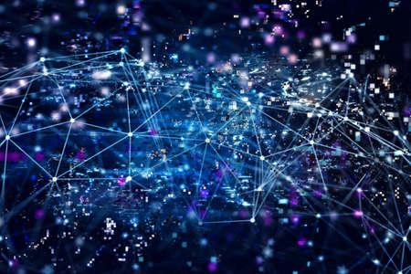 디지털 인터넷 네트워크 개념 배경