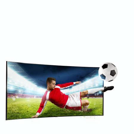 Realismus von im Fernsehen übertragenen Sportbildern Standard-Bild - 88048720