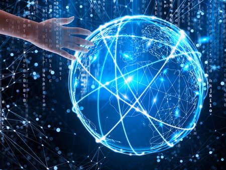 Konzept des globalen Internetverbindungsnetzes