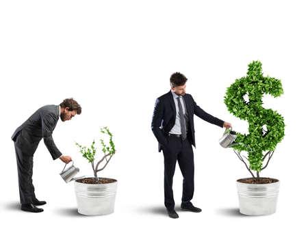 Ambitie en vaardigheid van een zakenman. 3D-weergave