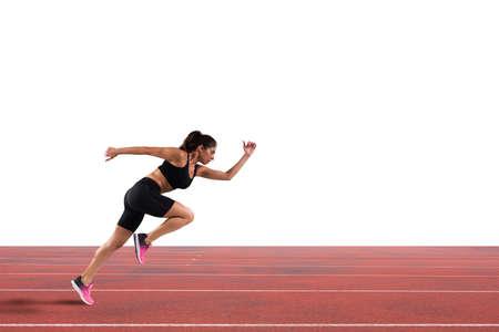 Athletischer Frauenläufer Standard-Bild - 91320424