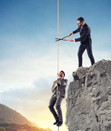 Biznesmen, który nie pomaga konkurentowi. Pojęcie nieuczciwej konkurencji