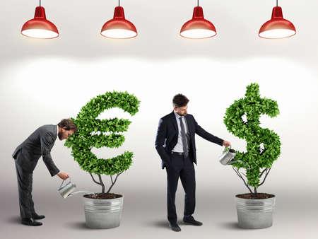 Make investments grow. 3D Rendering Banco de Imagens