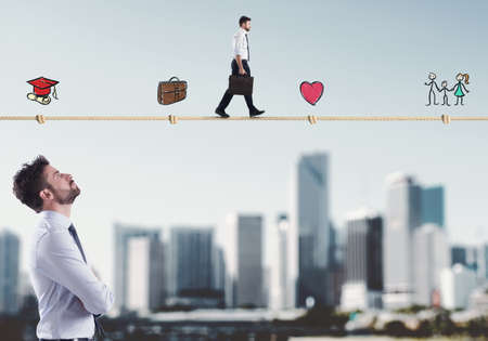 Stadia van het zakenmanleven