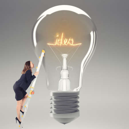 Have an idea. 3D Rendering Stock Photo