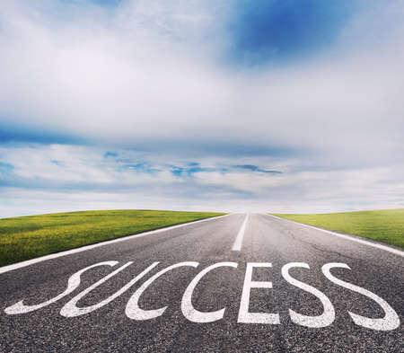 成功の道。成功と会社のスタートアップの概念