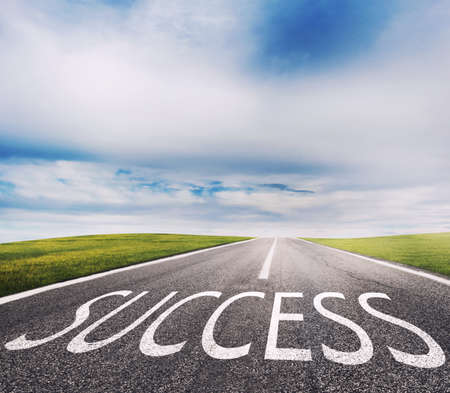 The way of success. Concept of successful and company startup