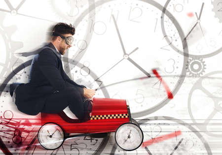 Race against time to meet the deadlines Stock Photo - 103512173