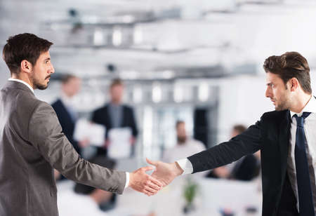 Business handshake. Concept of teamwork and partnership Stock Photo