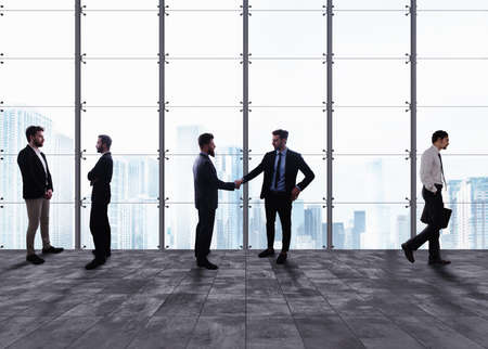 Business handshake. Concept of teamwork and partnership Foto de archivo - 101552668
