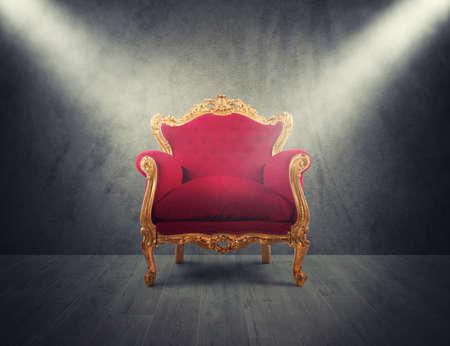 Kijng Directeursstoel Throne bruin echt leer