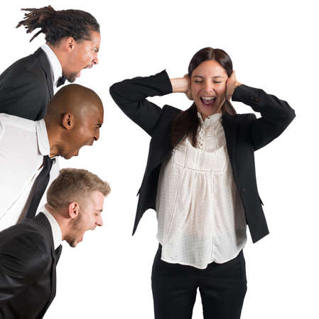 Tired of leaders screams Stock Photo