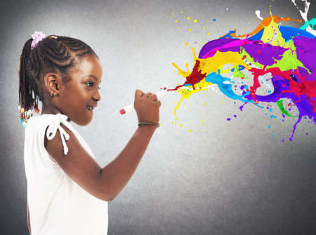 Creative little girl Reklamní fotografie