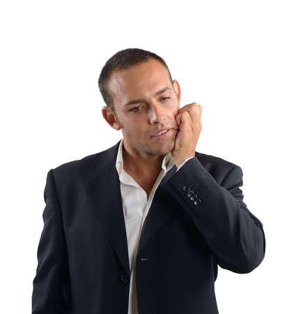 Businessman under tension