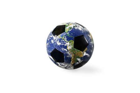 Soccer ball a as world. Imagens