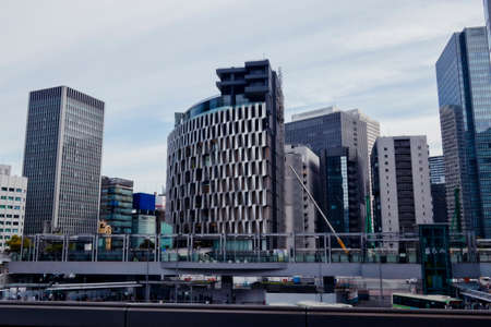 Wide view of modern skyscrapers in Japan