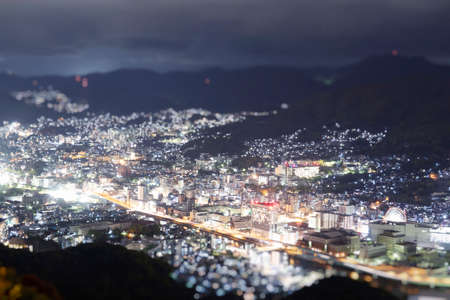 Night view of Nagasaki from top of mount Inasa.