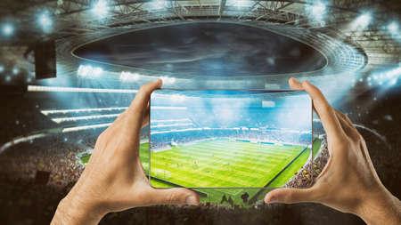 Regardez un événement sportif en direct sur votre mobile