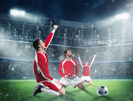 Exultation d'un footballeur