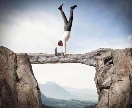 Equilibrist businessman 版權商用圖片