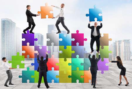 Team of businesspeople build a new company Reklamní fotografie